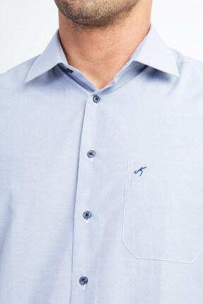 Kiğılı Kısa Kol Regular Fit Çizgili Gömlek 2