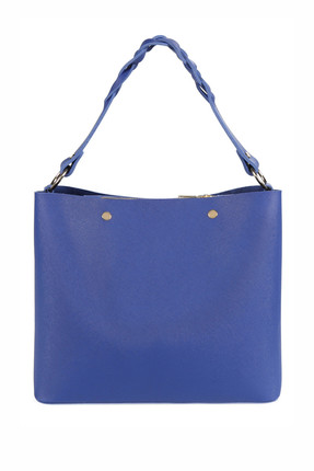 Laura Ashley Kadın Örgü Askılı Baget Çanta Saks Mavi 2