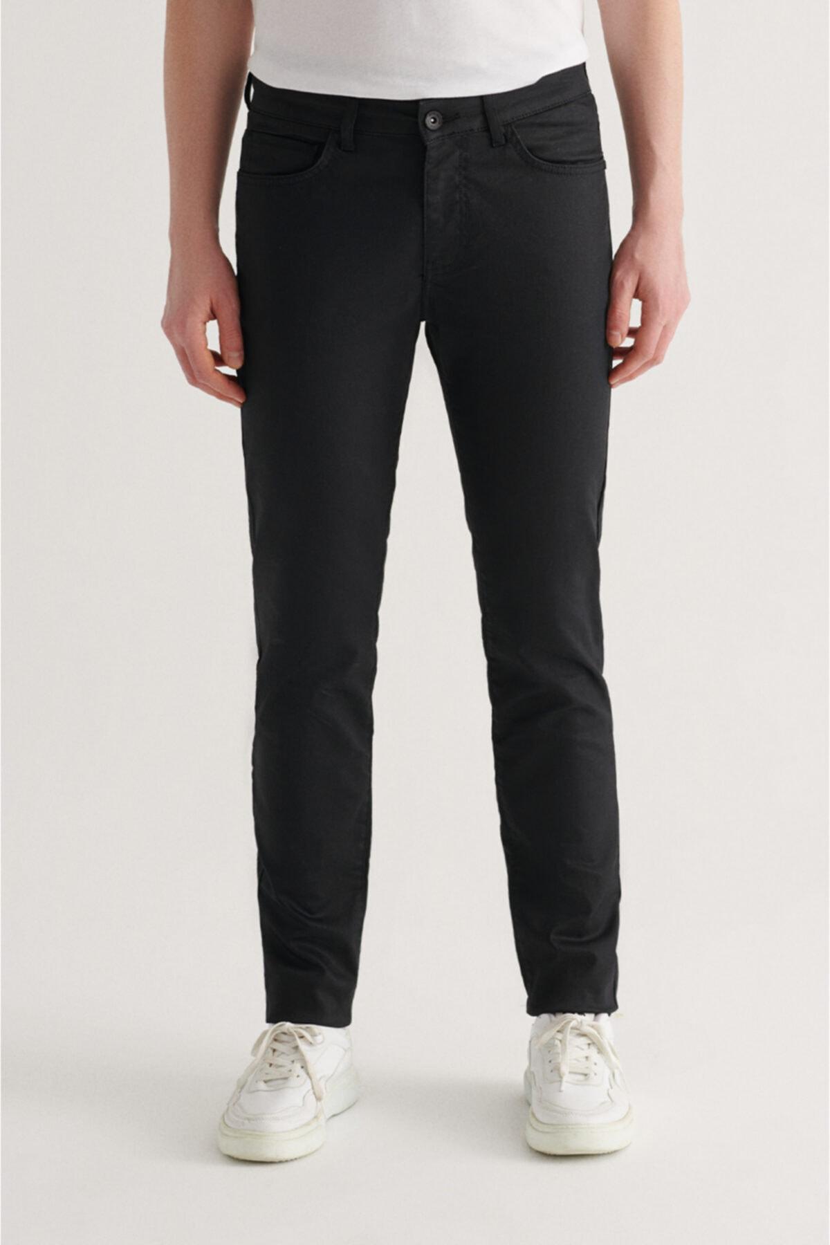 Erkek Siyah Slim Fit Jean Pantolon A11y3549