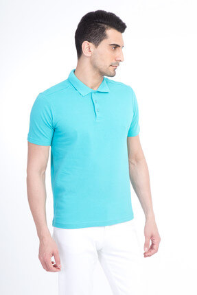 Kiğılı Erkek Mavi Polo Yaka T-Shirt - Cdee1-3 0