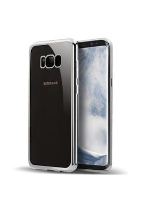 Microsonic Samsung Galaxy S8 Plus Kılıf Flexi Delux Gümüş 0