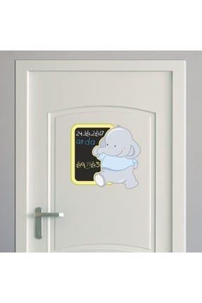 Dekor Loft Mavi Fil Yazılabilir Kapı ve Dolap Sticker 0