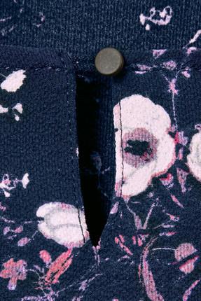 Tchibo Lacivert Çiçekli Fırfırlı Bluz 93277 4