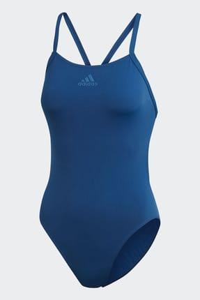 adidas Kadın Mavi Mayo Perf Swim Inf  DQ3218 4