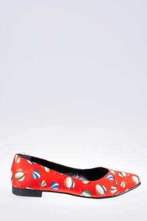 Fox Shoes Kırmızı Kadın Babet F726803204 2