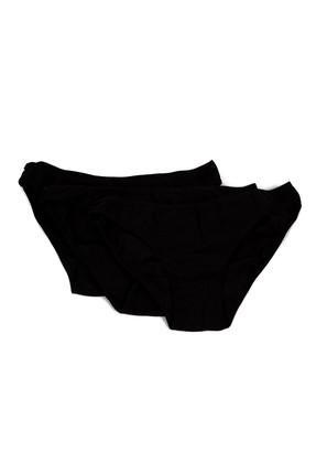 Penti Siyah 3'lü Kadın Fresh Slip Külot Paket PLFRES3S12IY 0