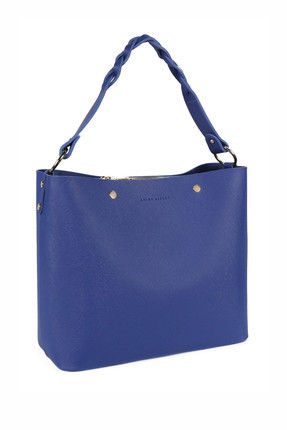 Laura Ashley Kadın Örgü Askılı Baget Çanta Saks Mavi 0