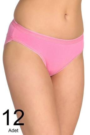Tutku Kadın Pembe 12'li Paket  Bikini Külot ELF568T0635CCM12 0