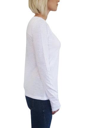 Mof Basics Kadın Beyaz T-Shirt UKSYT-B 2