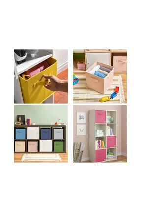 Rani Mobilya Q1 Medium Çok Amaçlı Dolap İçi Düzenleyici Kutu Dekoratif Saklama Kutusu Organizer Açık Mavi 3