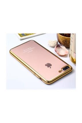 Microsonic Apple iPhone 8 Plus Kılıf Flexi Delux Gold 1
