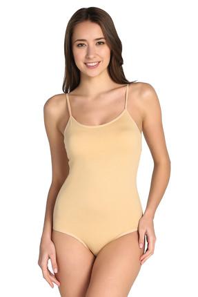 Tutku Kadın Ten 3'lü Paket  İp Askılı likralı Kancalı Çıtçıtlı Body ELF568T0148CCM3 1