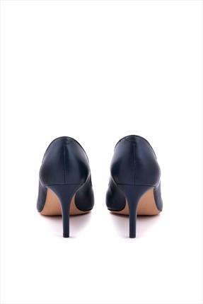 Kemal Tanca Kadın Lacivert Hakiki Deri Topuklu Ayakkabı 152TCK557 21694 3
