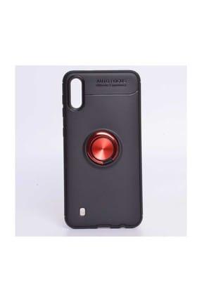 Edelfalke Galaxy M10 Ravel Silikon Kılıf-Siyah Kırmızı 0