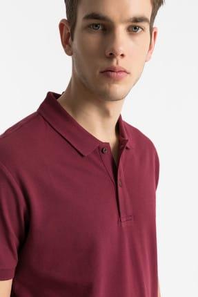 Ltb Erkek  Bordo Polo Yaka T-Shirt 012198450860890000 1