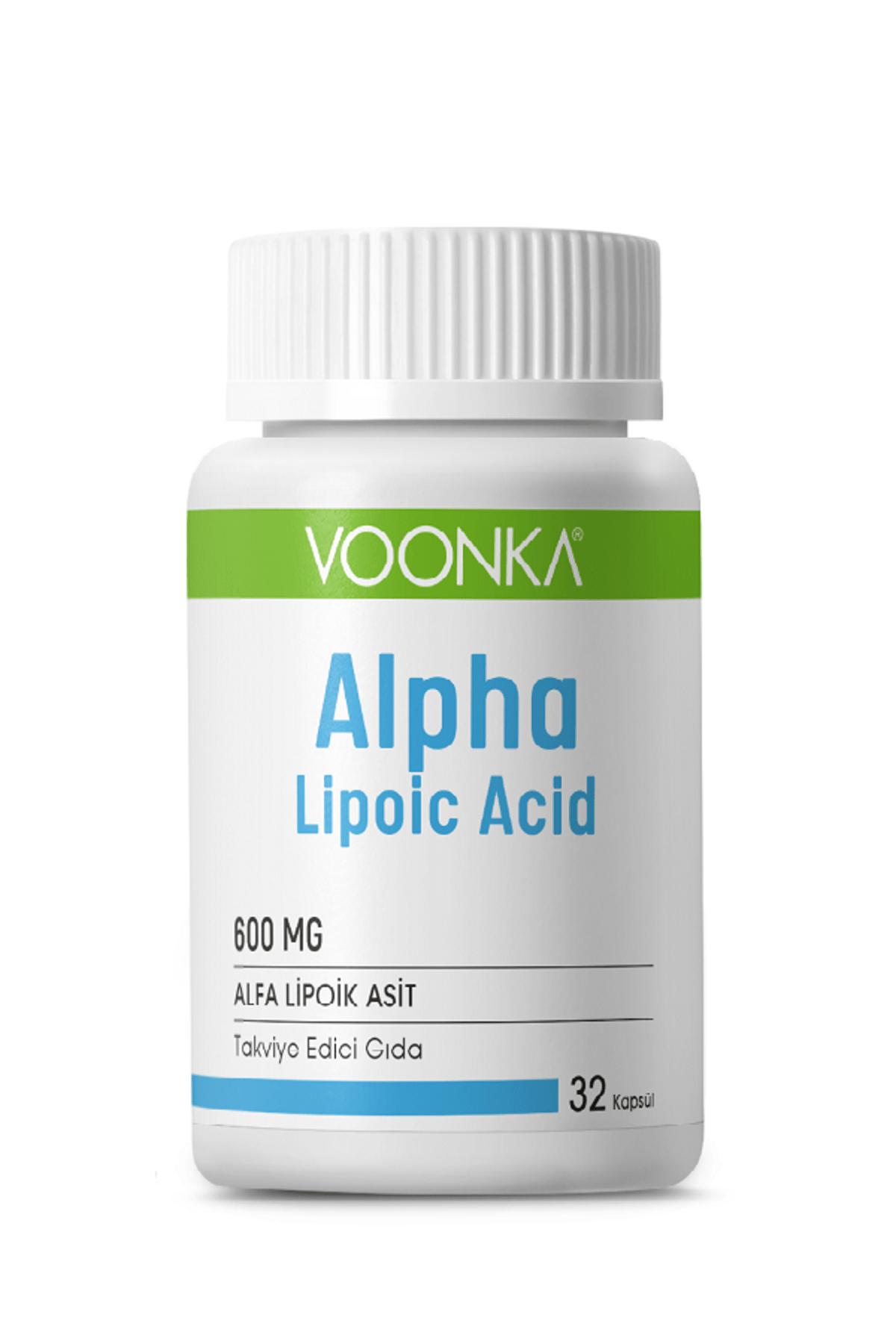 Voonka Alpha Lipoic Acid 600 Mg 32 Kapsül Skt:03/2021 0