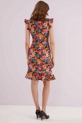 Journey Elbise-o Yaka, Etek Altı Ve Kol Volan Detaylı 1