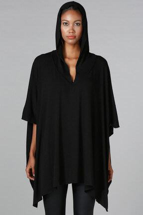 Quincey Kadın Siyah Panço HK2120 3