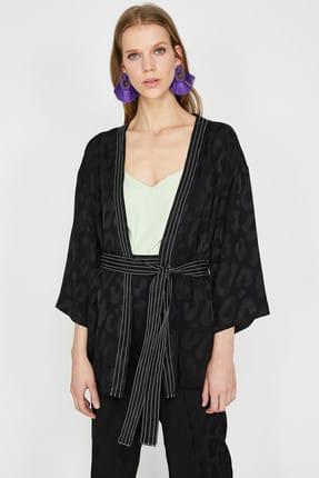 Koton Kadın Siyah Ceket 9YAK52061UW 3