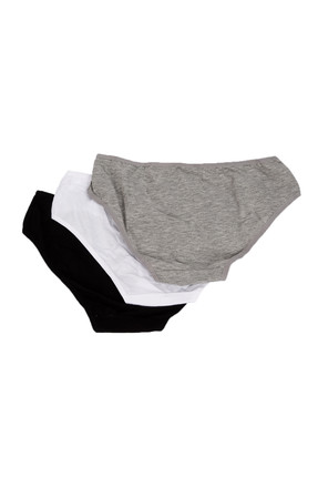 Penti 3'lü Paket Siyah Beyaz Gri Kadın Cover Slip Külot PLCOVR3S12SK 2