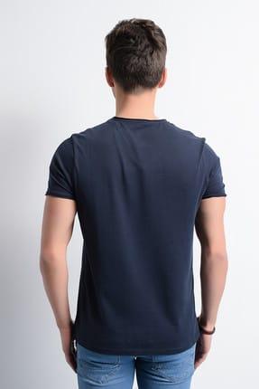 Rodi Jeans Erkek T-Shirt V Yaka Pis Dikiş Basic 3