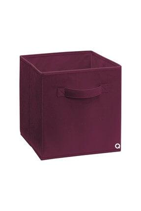 Rani Mobilya Q1 Large Çok Amaçlı Dolap İçi Düzenleyici Kutu Dekoratif Saklama Kutusu Raf Organizer Bordo 0