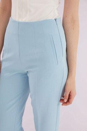 Journey Kadın Mavi Ön Pens Detaylı Pantolon 2