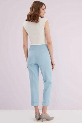 Journey Kadın Mavi Ön Pens Detaylı Pantolon 3