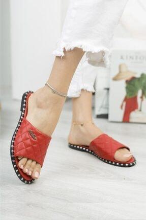 Moda Frato Kadın Kırmızı Terlik 0