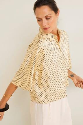 Mango Kadın Sarı Puantiyeli Bluz 41065811 3