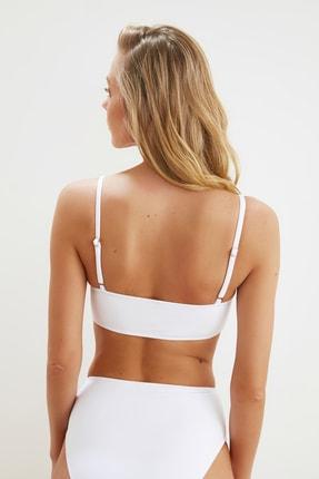 TRENDYOLMİLLA Beyaz Trok Taşlı Bikini Üstü TBESS21BU0371 3