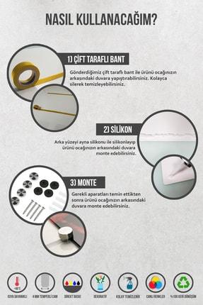 Decorita Mutfak Kuralları - Kara Tahta Görünümlü   Cam Ocak Arkası Koruyucu   52cm X 60cm 4