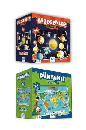 CA Games Dünyamız ve Gezegenler Yer Puzzle Seti 0