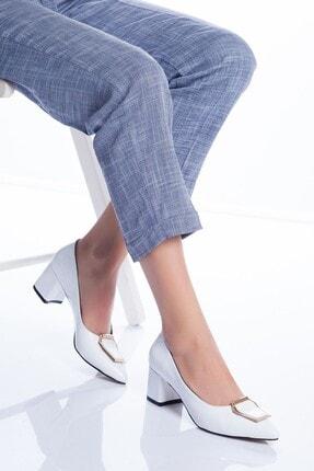 Beyaz Rugan Topuklu Ayakkabı 2358572
