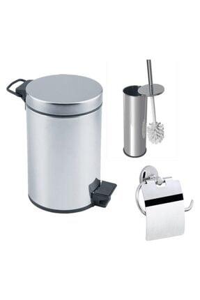 Banyo 5 Lt Çöp Kovası Seti Çöp Kovası Fırça Kağıtlık E9319