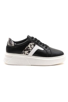 GRADA Kadın Deri Siyah Sneaker Ayakkabı 1