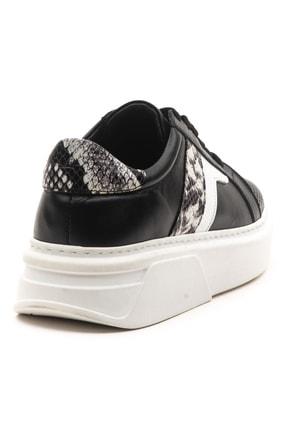 GRADA Kadın Deri Siyah Sneaker Ayakkabı 4
