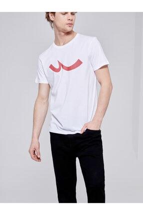 Ltb Erkek  Beyaz  Baskılı  Kısa Kol Bisiklet Yaka T-Shirt 012208415960890000 4