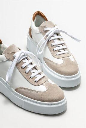 Elle Kadın Beyaz Deri Spor Ayakkabı 2