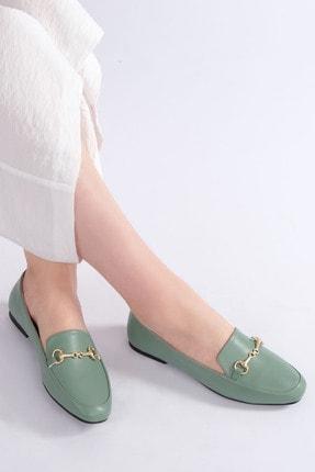 Marjin Kadın Yeşil Loafer Ayakkabı Bekla 1