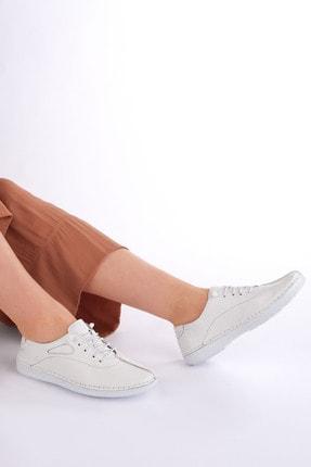 Marjin Kadın Beyaz Hakiki Deri Günlük Comfort Ayakkabı Edor 1