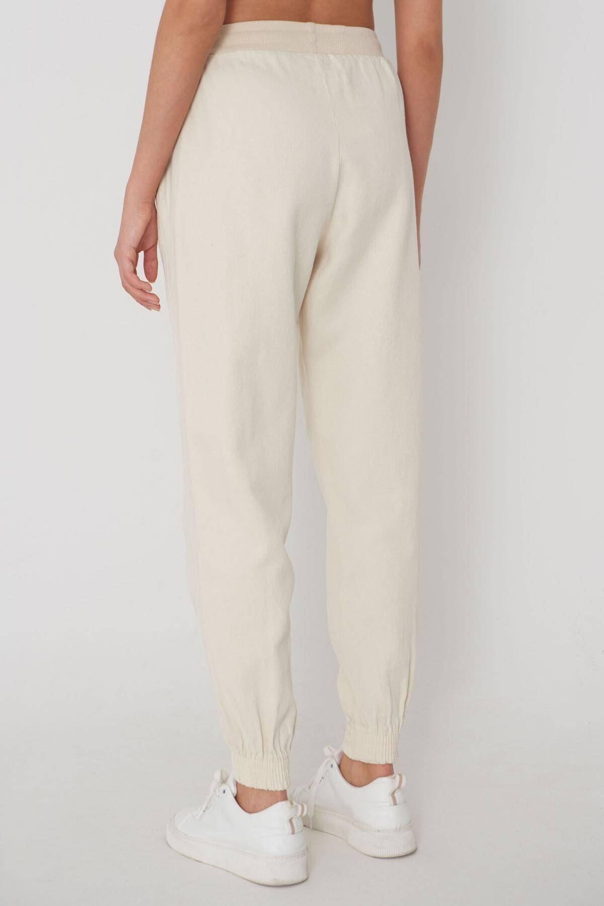 Addax Paçası Lastikli Pantolon Pn01-072 - W3 4