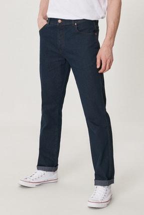 Texas Erkek Koyu Mavi Straight Fit Normal Bel Düz Paça Esnek Jean Pantolon W12175001