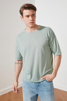 TRENDYOL MAN Mint Basic Erkek Bisiklet Yaka Oversize Kısa Kollu T-Shirt TMNSS21TS0811 3