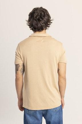 XHAN Ekru Yakalı Triko T-shirt 1kxe1-44809-52 1