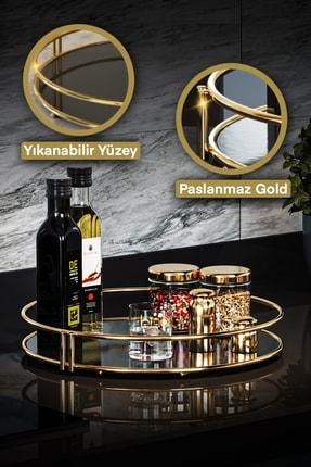 Bino Servis Sunum Ikramlık Gold Büyük Lüks Organizer Sofra Mutfak Düzenleyici Pasta Standı 0