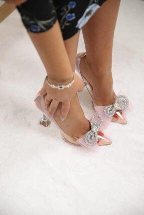 SHOEBELLAS She Pembe Kadın Topuklu Ayakkabı 0