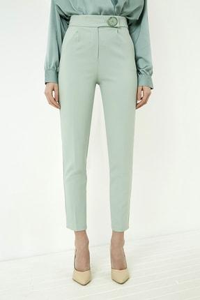 Vis a Vis Kadın Çağla Yeşili Düğme Detaylı Havuç Pantolon 4