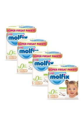 Molfix Pure&Soft Bebek Bezi 5 Beden Junior 2 Aylık Fırsat Paketi 176 Adet 1