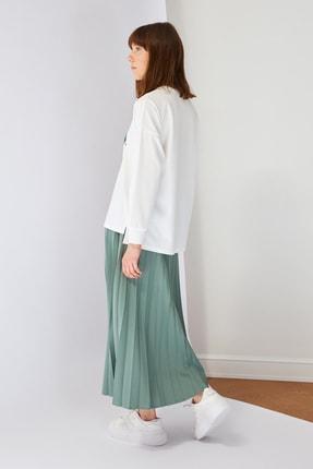 Trendyol Modest Yeşil Baskılı Bluz Etek Alt-Üst Takım TCTSS21AU0280 4